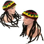 Rastamütze Mega Funky Party XXL Rasta Dreadlocks