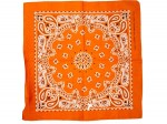 Bandana Zandana orange gemustert 100% Cotton 142