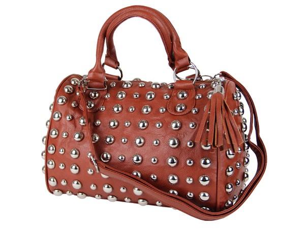 Handtasche-Nieten-Tasche-Vintage-Shopper-Bag-Damen-Tasche-alle-Farben-Noppen-NEU