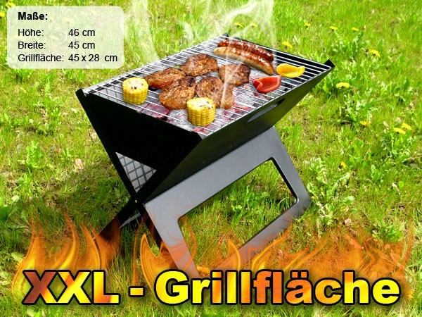 Barbecue-Laptop-Notebook-Klappgrill-Camping-BBQ-Grill-Picknickgrill-Faltgrill