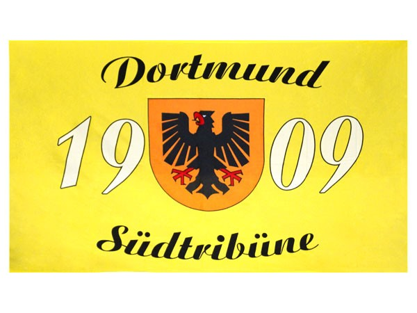 Dortmund fahne fan artikel hissfahne garten flagge meister for Zimmer deko fussball