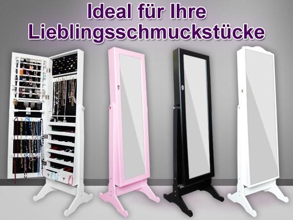 Schön Spiegelschrank Schmuckschrank Schmuck Ohrringe Ring Ringe Kette  KW01