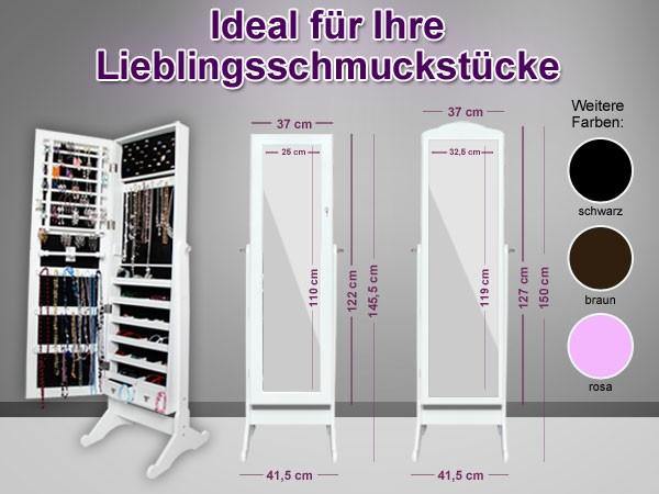 spiegel schrank schmuck schrank schmuck aufbewahrung ohr ringe ring kette neu ebay. Black Bedroom Furniture Sets. Home Design Ideas