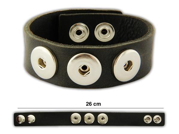 bouton a pression bracelet en cuir. Black Bedroom Furniture Sets. Home Design Ideas