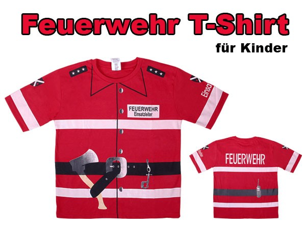 fasching karnevalskost m t shirt feuerwehr einsatzleiter. Black Bedroom Furniture Sets. Home Design Ideas
