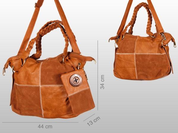 Schultertasche-Kunstleder-Tasche-Shopper-Handtasche-Damentasche-Umhaengetasche