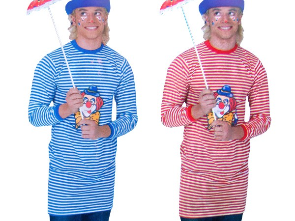 ringelshirt langarmshirt clown karnevalskost m gestreift lang fasching kost m karneval. Black Bedroom Furniture Sets. Home Design Ideas