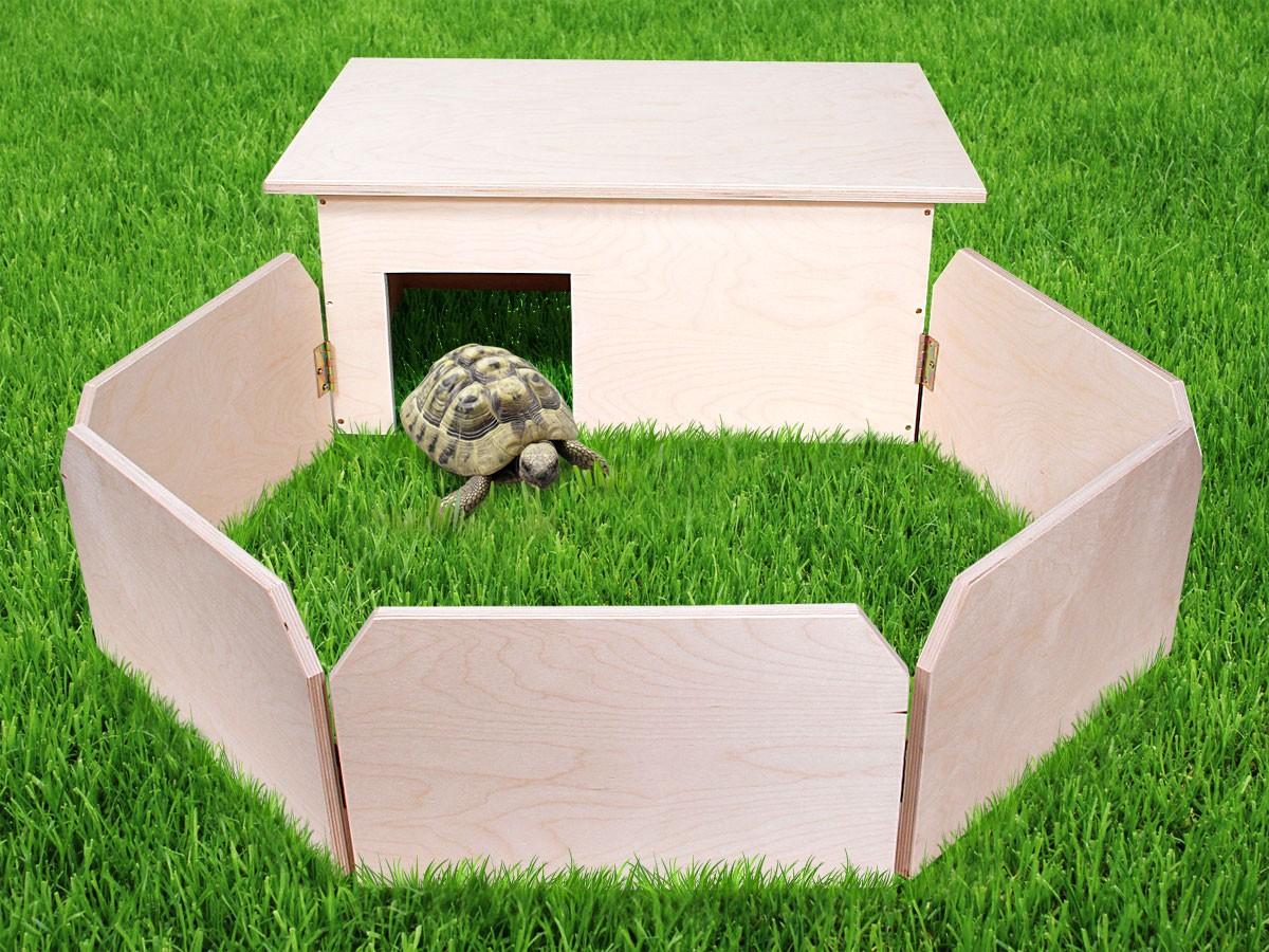 schildkr ten haus auslauf xxl handgefertigt terrarium gehege k fig schutz haus ebay. Black Bedroom Furniture Sets. Home Design Ideas