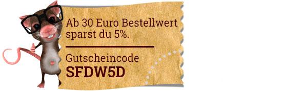 Ab 30Euro Einkauf 5% sparen