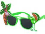 Sonnenbrille Funbrille Partybrille Cocktail grün 02