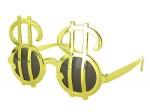 Sonnenbrille Funbrille Partybrille Dollar Brille Gold 04