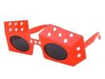 Sonnenbrille Funbrille Partybrille Würfel rot 17
