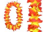 Hawaiiketten Blumenkette Hula Deluxe Gelb/Orange HKm-05