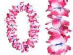 Hawaiiketten Blumenkette Hula Deluxe Blau/Weiss/Pink HKm-19