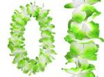 Hawaiiketten Blumenkette Hula Deluxe Weiss/Grün HKm-25
