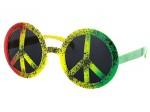 Sonnenbrille Funbrille Peace grün gelb rot 22