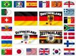 Alsino Länder Flaggen Fahnen zur Fußball WM Maße 90x150 cm