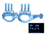 Blinkende LED Partybrille Happy Birthday Brille Bild 2