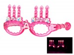 Blinkende LED Partybrille Happy Birthday Brille Bild 4