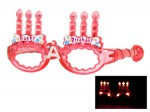 Blinkende LED Partybrille Happy Birthday Brille Bild 5