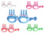 Blinkende LED Partybrille Happy Birthday Brille