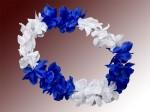 Hawaiiketten Blumenkette Hula Deluxe blau weiß HKm-21