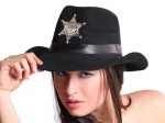 Cowboy Westernhut mit Filzüberzug u. Sheriff Stern alle Farben Bild 5
