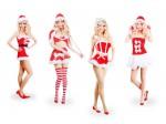 Nikki Santa Damen Weihnachtskleid Weihnachtskostüm mit Cape und Rock für Frauen