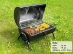 Zylindergrill Barbecue Grill Holzkohlegrill Camping Grill Zylinder Grill mit Griff 10