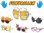 Sonnenbrille Funbrille Partybrille Spaßbrille Diskobrille Karneval viele Modelle