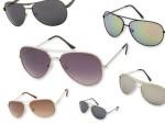 Pilotenbrille in verschiedenen Designs