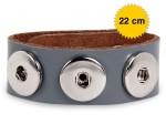 Chunk Easy Button Lederarmband Chunks Bead Druckknopf Wickelarmband Amsterdam Bild 7