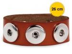 Chunk Easy Button Lederarmband Chunks Bead Druckknopf Wickelarmband Amsterdam Bild 3