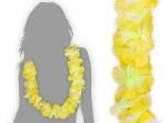 Hawaiiketten grün weiß zu gelb Blumenketten 34