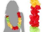 Hawaiikette grün gelb rot Blumenketten Hula Kette 35