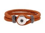 Chunk Schlaufenverschluss Chunkarmband doppeltes PU Kunstlederarmband Button Armband Schlangenoptik Bild 5