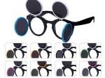 Gaga Retro Sonnenbrille Raver Techno Aufklappbar Keyhole Flip Up Verspiegelt