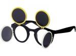 Gaga Retro Sonnenbrille Raver Techno Aufklappbar Keyhole Flip Up Verspiegelt Bild 6