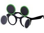 Gaga Retro Sonnenbrille Raver Techno Aufklappbar Keyhole Flip Up Verspiegelt Bild 5