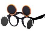 Gaga Retro Sonnenbrille Raver Techno Aufklappbar Keyhole Flip Up Verspiegelt Bild 4