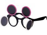 Gaga Retro Sonnenbrille Raver Techno Aufklappbar Keyhole Flip Up Verspiegelt Bild 2