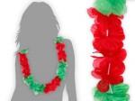 Hawaiiketten rot grün Portugal Blumenketten Hawaii Kette 12