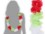 Hawaiikette Italien grün weiß rot Blumenketten Hawaii Kette 13