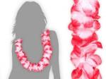 Hawaiikette weiß zu rot  Blumenkette Hawaii Kette 15