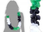 Hawaiiketten grün schwarz weiß Blumenketten Hawaii  26