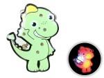 Blinki Anstecker Blinky Brosche Pin Button Dino grün 133