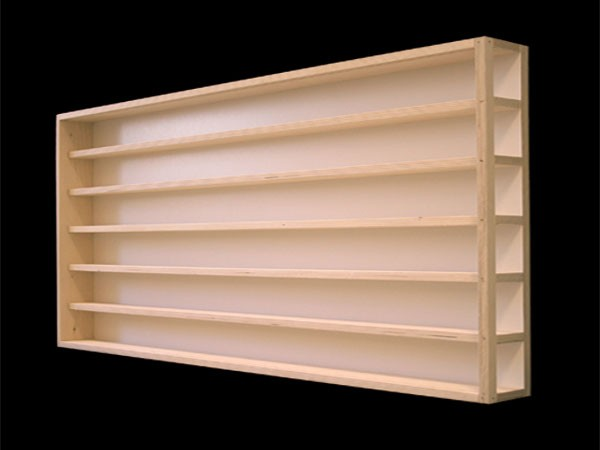 100 cm 6fach ho vitrine mit nuten f r spur h0 linkes teil e13al vitrinen holz vitrinen module. Black Bedroom Furniture Sets. Home Design Ideas