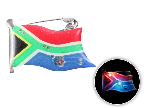 Blinki Anstecker Blinky Brosche Pin Button Südafrika Flagge 202