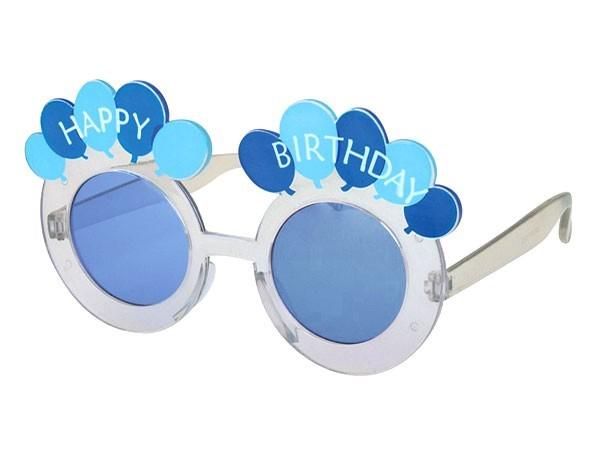Sonnenbrille Funbrille Partybrille Geburtstag blau 10