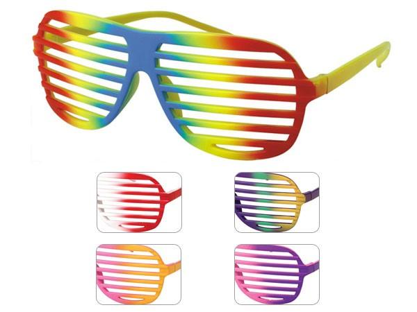 Atzenbrille Shutter Shades Sonnenbrille Gitter Brille ohne Glas V-820j multicolor